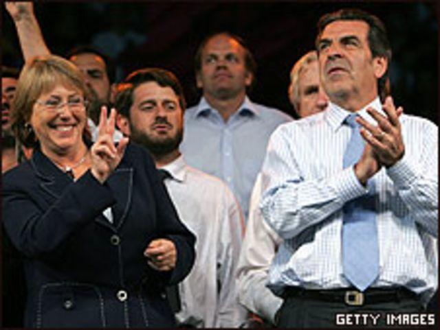 Eduardo Frei con Michelle Bachelet
