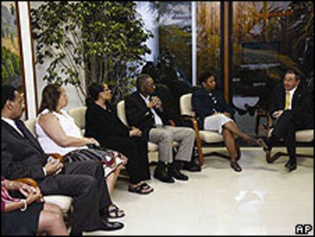Raúl Castro reunido con legisladores de EE.UU.