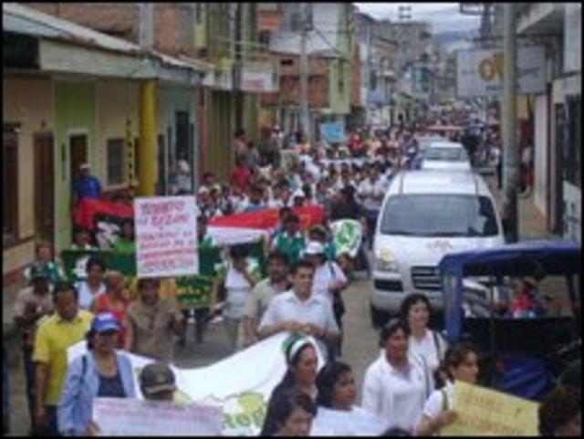 Una marcha en San Martín