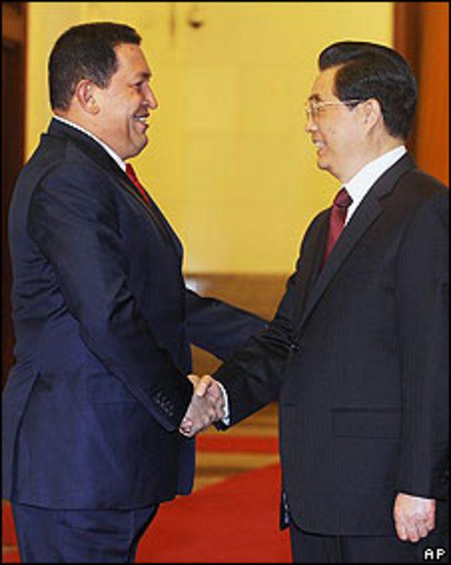 Chávez, frente a Jintao
