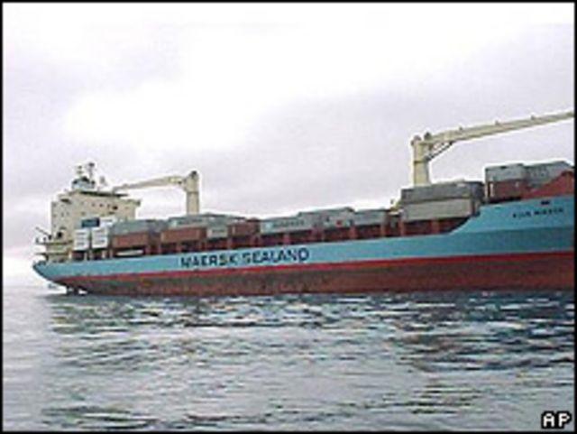 Imagen del Maersk Alabama (Foto de archivo).