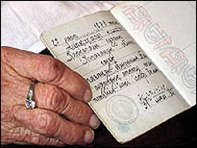 Pasaporte soviético de Dosova
