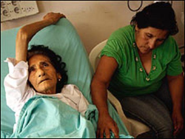 Mujer con dengue