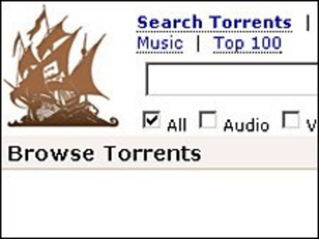 Logo del sitio The Pirate Bay