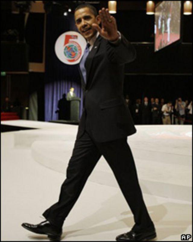 Barack Obama, durante su participación en la Cumbre de las Américas