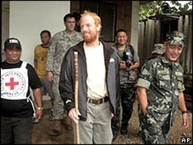 Andreas Notte tras ser liberado en Filipinas