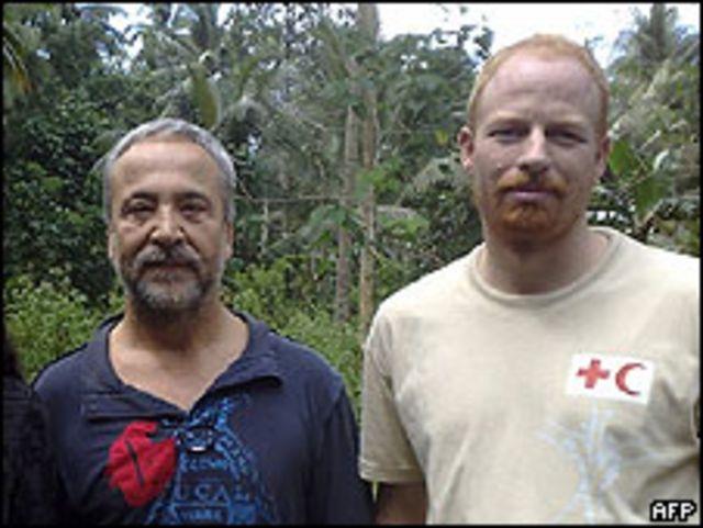 Andreas Notte (der.) junto Eugenio Vagni