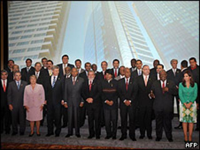 Líderes presentes en la V Cumbre de las Américas