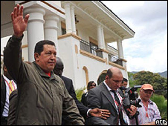 Hugo Chávez, presidente de Venezuela