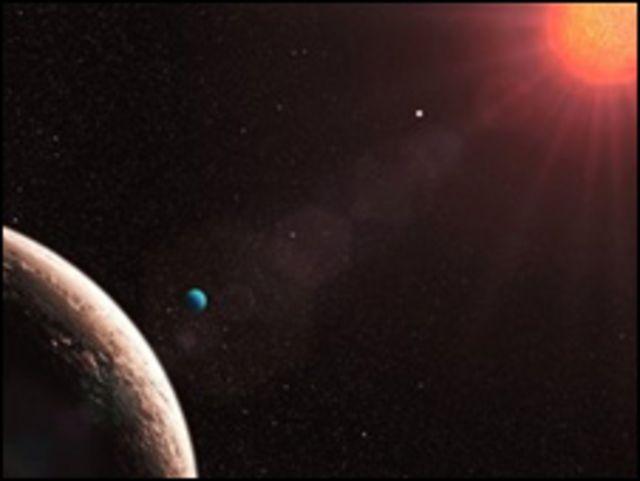 Recretación artísitica de Gliese 581 E