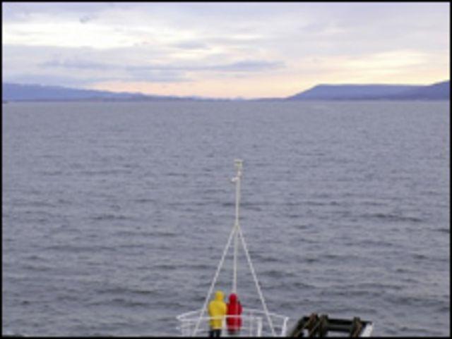Mar en el sur de Argentina