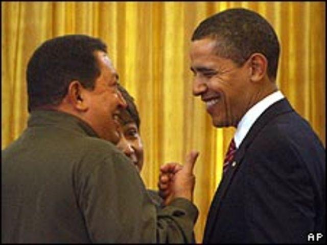 Hugo Chávez y Barack Obama