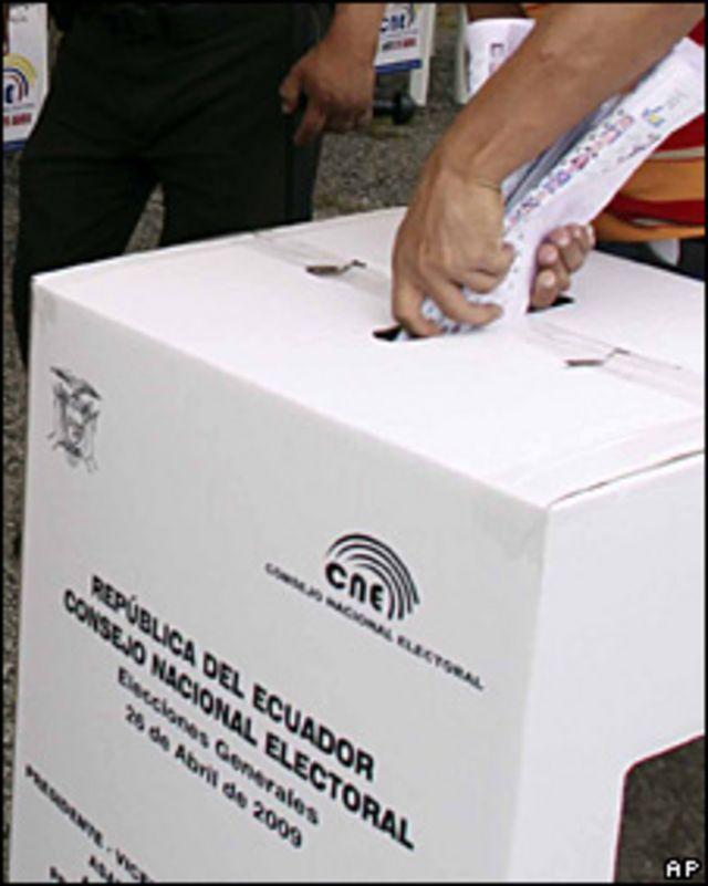 Votante en Ecuador
