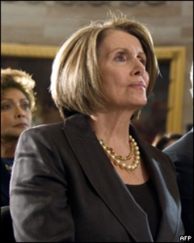 Nancy Pelosi, presidenta de la Cámara de Representantes del Congreso