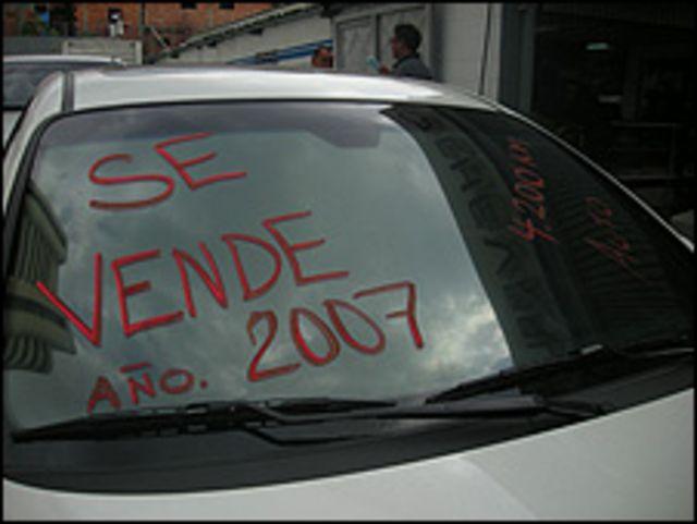 Auto a la venta en Venezuela (Foto: Anahí Aradas).