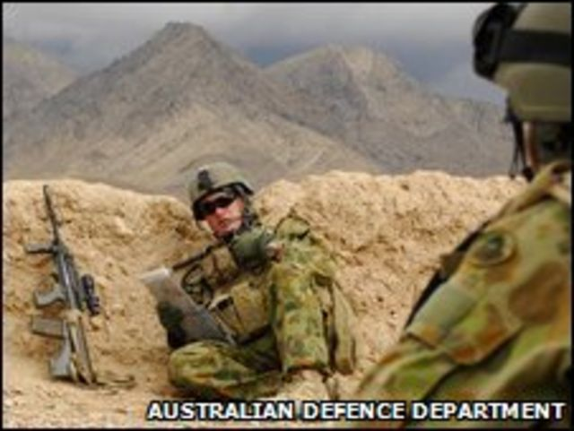Soldado australiano en Afganistán