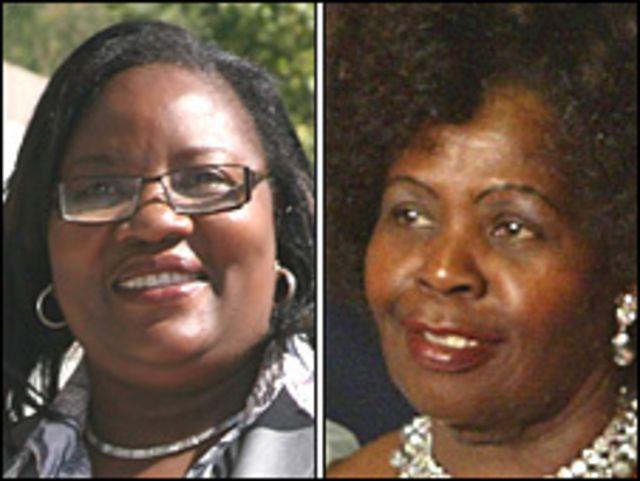 Ida Odinga y Lucy Kibaki