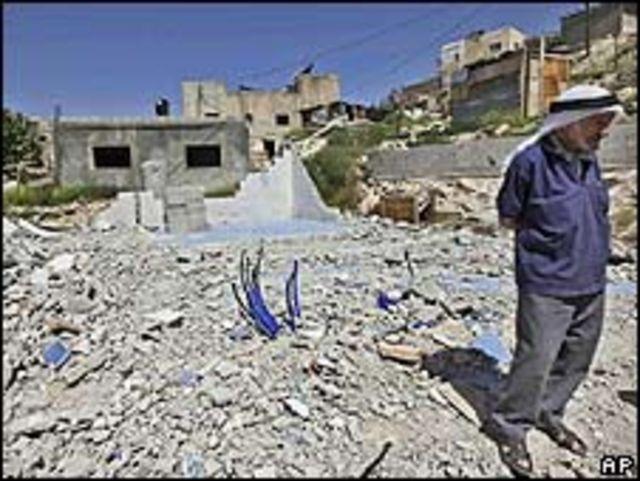 Vivienda árabe demolida en Jerusalén oriental