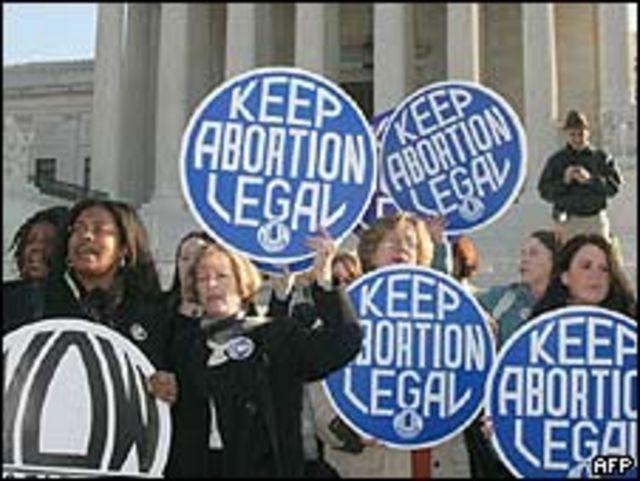 Activistas por aborto frente a la Corte Suprema