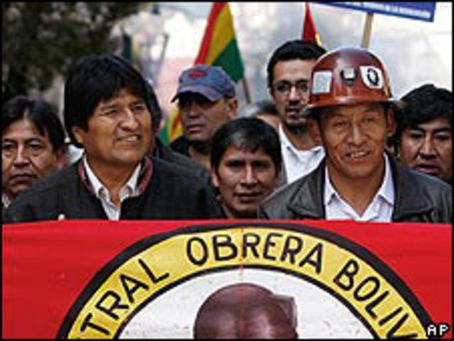 Evo Morales durante el acto en La Paz.