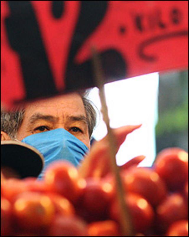 Vendedor en un mercado de Ciudad de México