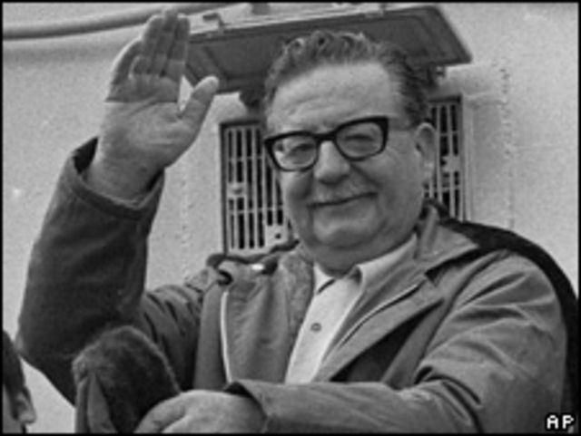 Salvador Allende en foto de archivo de 1971