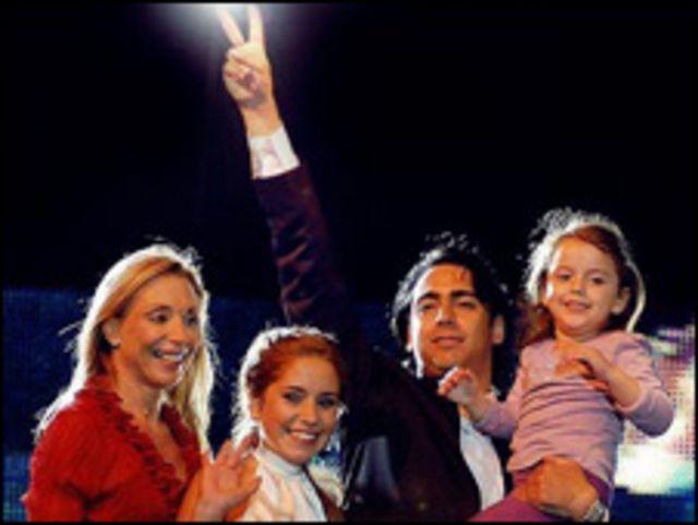 Marco Enríquez-Ominami y su familia