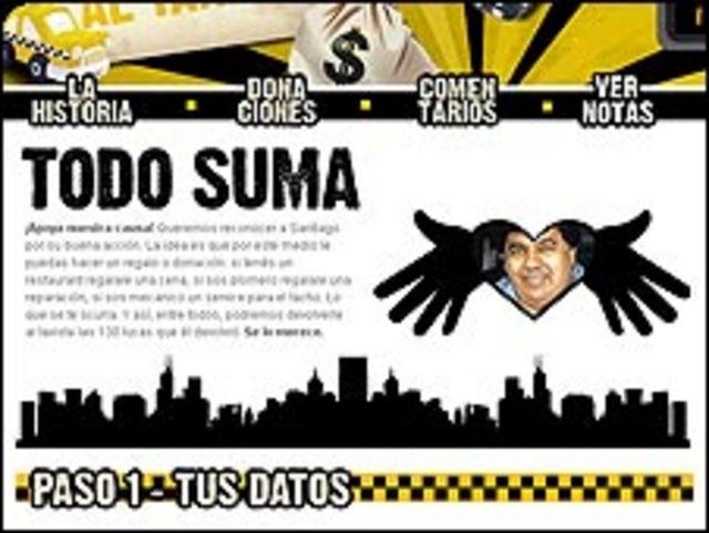 Imagen de la web http://www.devolvelelaguitaaltaxista.com