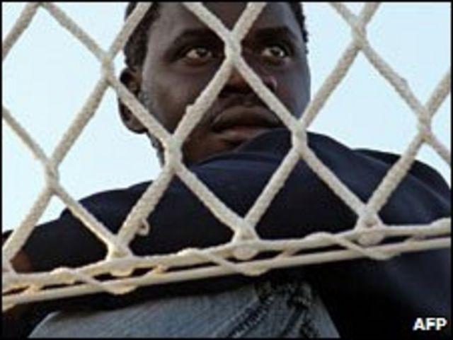 Inmigrante africano en Italia