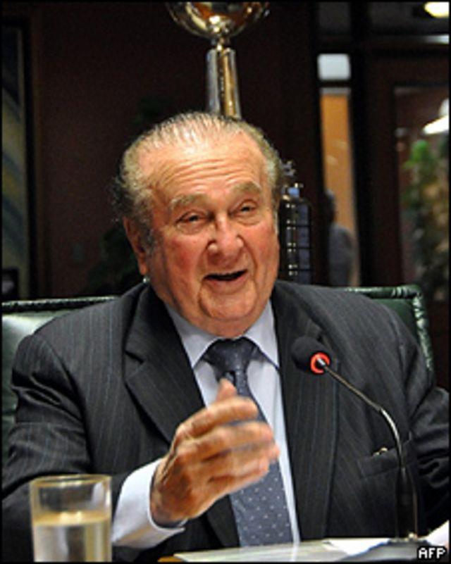 Nicolás Leoz, presidente de la Conmebol