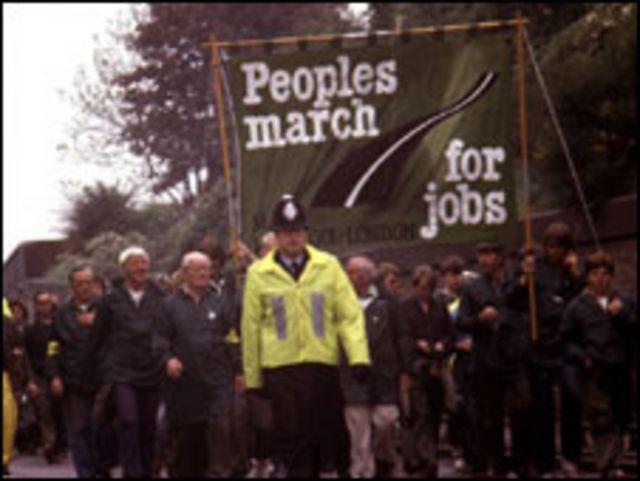 Manifestación de desempleados