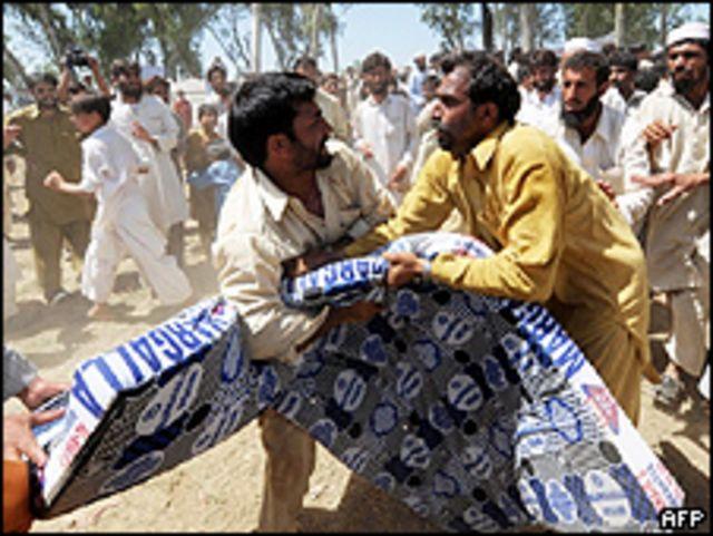 Refugiados en el valle de Swat en Pakistán