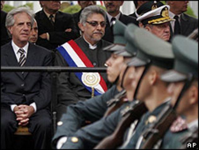 Los presidentes de Uruguay y Paraguay, Tabaré Vázquez y Fernando Lugo. Mayo de 2009.