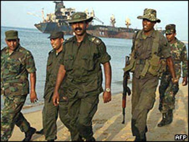 Soldados de Sri Lanka