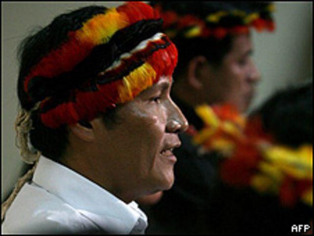 Alberto Pizango, líder indígena de Perú.