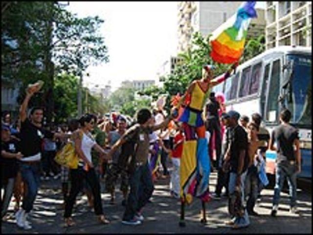 Marcha del orgullo gay en La Habana, 16 de mayo de 2009. Foto: Raquel Pérez.