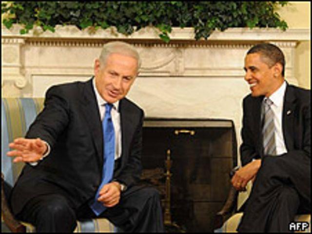 Benjamin Netanyahu (izq.) y Barak Obama