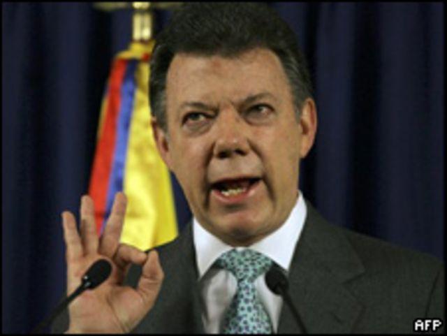 Juan Manuel Santos, ex ministro de Defensa de Colombia