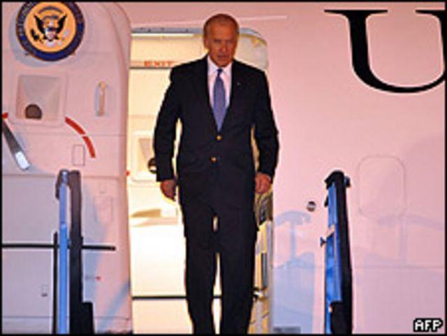 Joe Biden en Sarajevo.