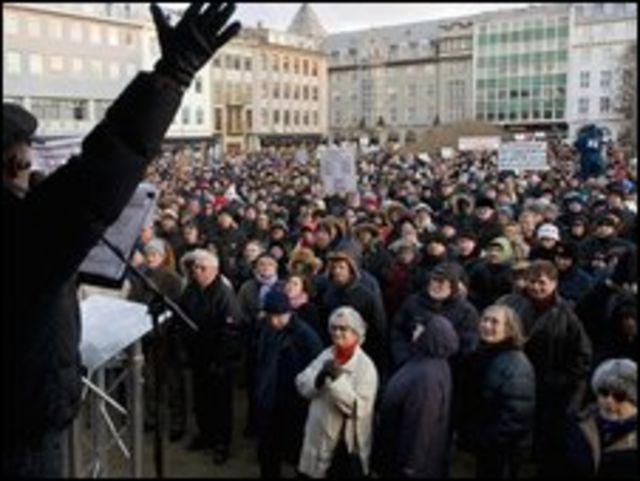 Protestas en Islandia
