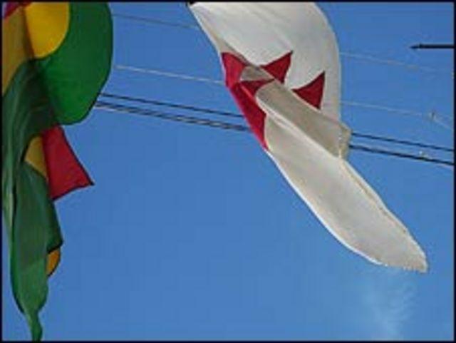 Banderas en Sucre