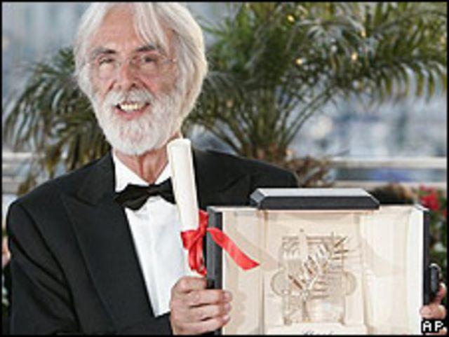 Michael Haneke, director de la película ganadora de la Palma de Oro en Cannes, Das Weisse Band.
