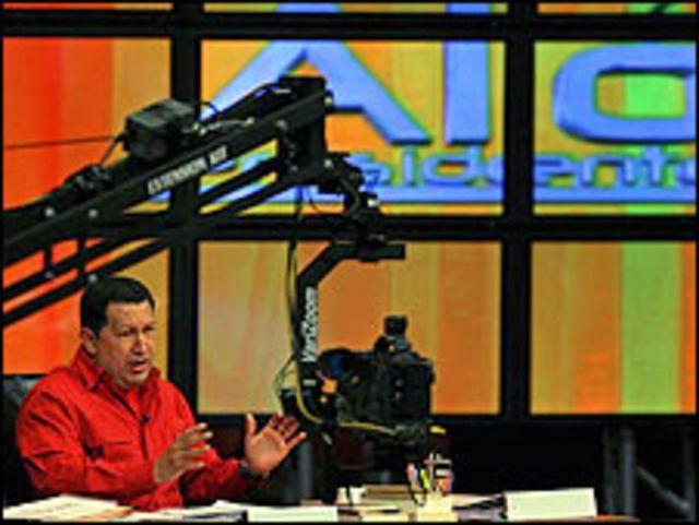 Chávez, durante uno de sus últimos programas.