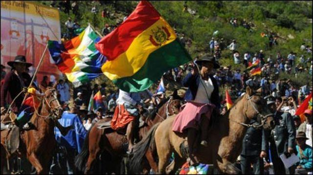 Festejos en Bolivia.