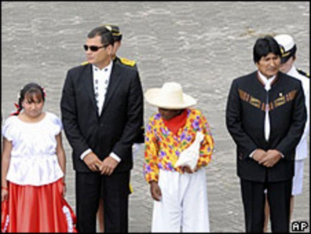 Rafael Correa, Evo Morales
