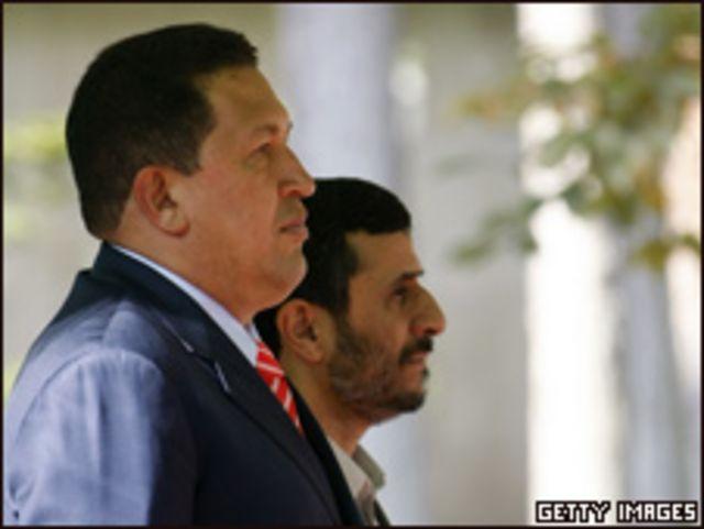 Chávez y Ahmadineyad