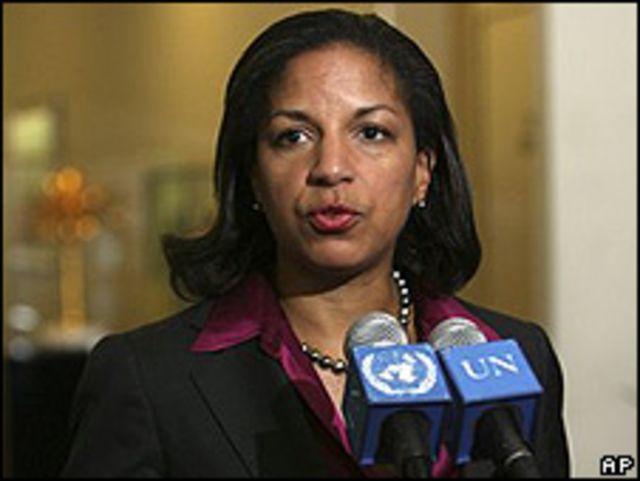 Susan Rice, embajadora de EE.UU. ante la ONU.