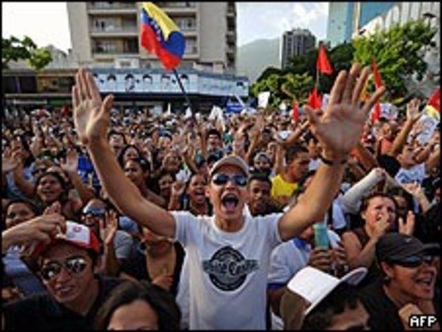 Protesta por la no renovación de la concesión de RCTV