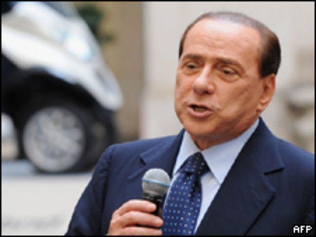 Silvio Berlusconi, primer ministro de Italia