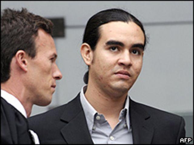 Carlos Funes, hermano del joven asesinado, durante el juicio